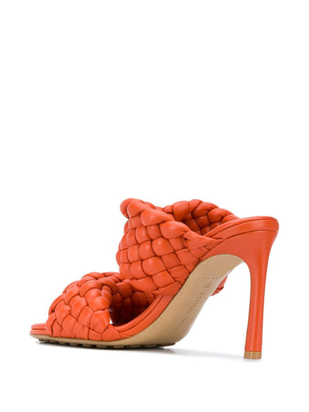 The Curve Sandal - Orange Back