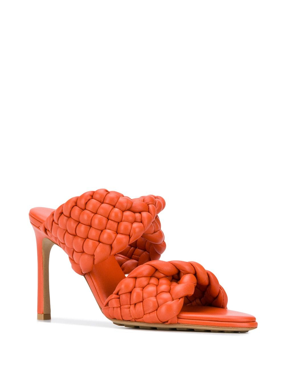 The Curve Sandal - Orange 3/4