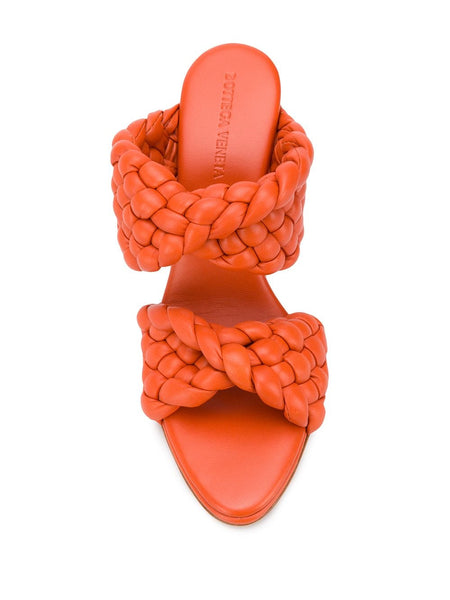 The Curve Sandal - Orange Top