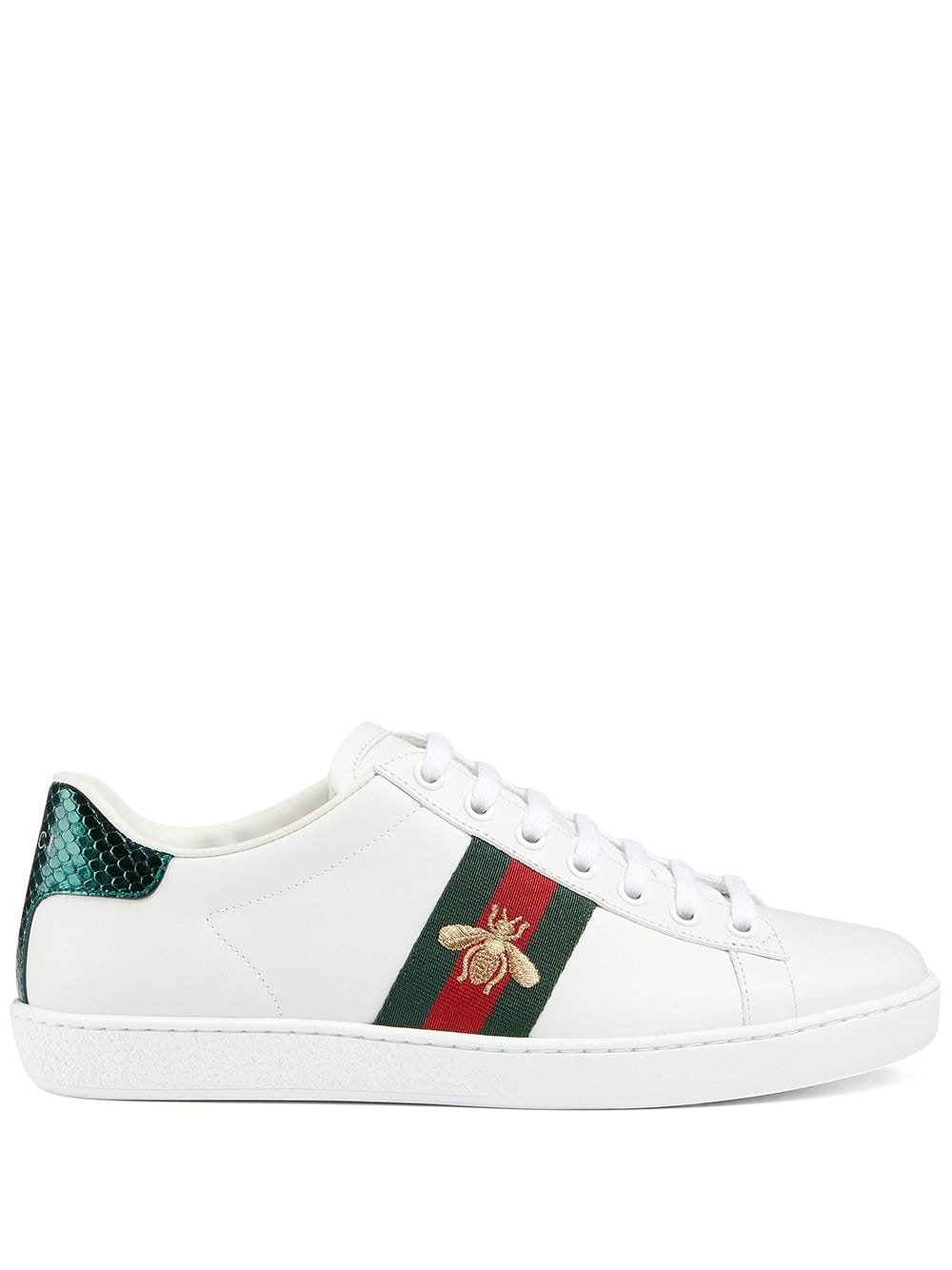 Embroidered Ace Sneakers - White