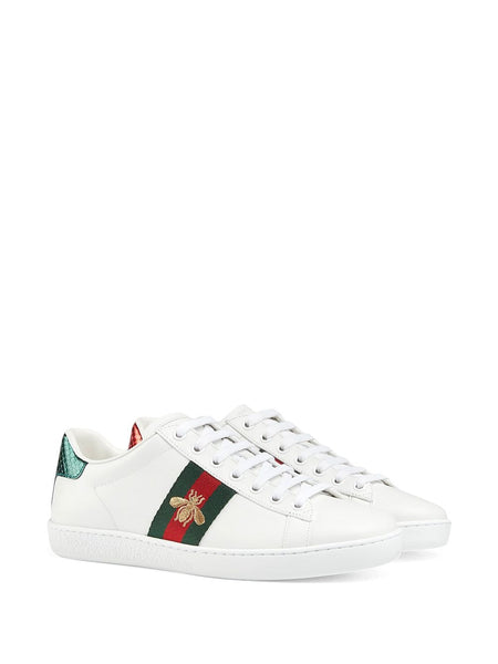 Embroidered Ace Sneakers - White 3/4