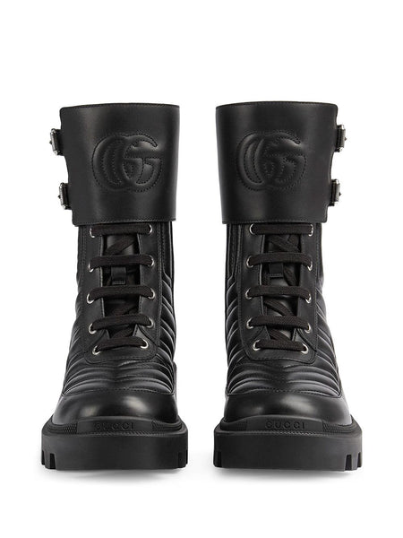 Interlocking G combat boots