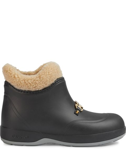 Horsebit-Embellished Ankle Boots