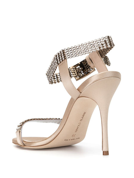 Fabio 105mm Sandals - Gold Back