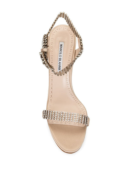 Fabio 105mm Sandals - Gold Top