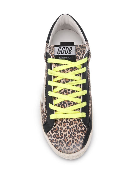 Superstar Leopard-Print Sneakers Top