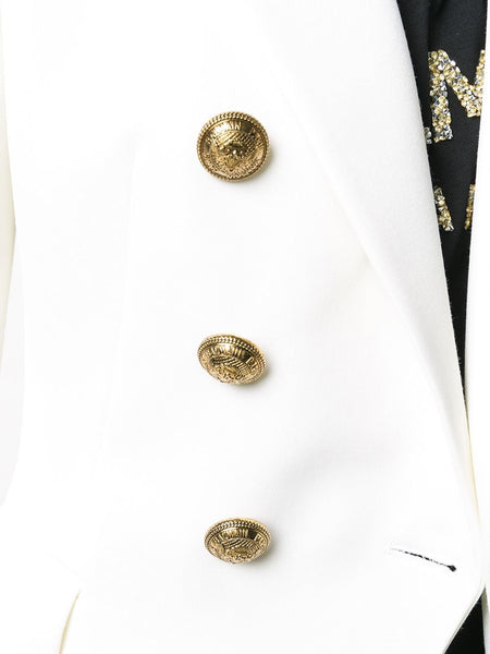 Double-Breasted Blazer Button