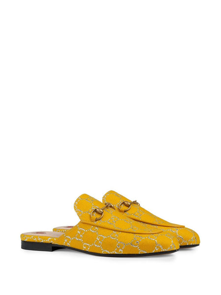 Princetown Donna Slipper - Yellow 3/4