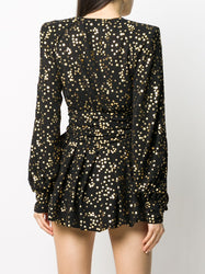 Star-Print V-Neck Dress