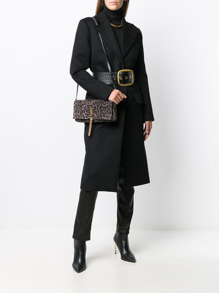 Kate Leopard Shoulder Bag On Model