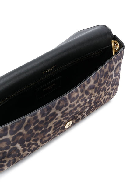 Kate Leopard Shoulder Bag Open
