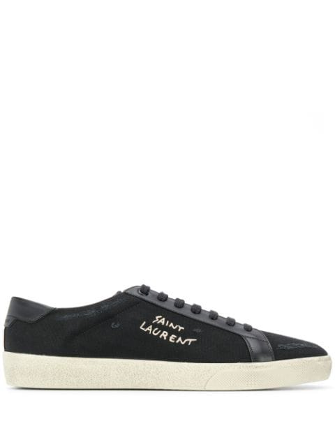 Men's Logo-Print Low-Top Sneakers