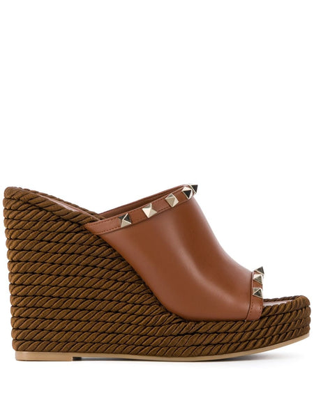 Rockstud Wedge Mules