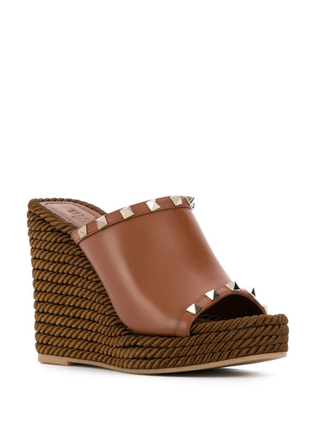 Rockstud Wedge Mules 3/4