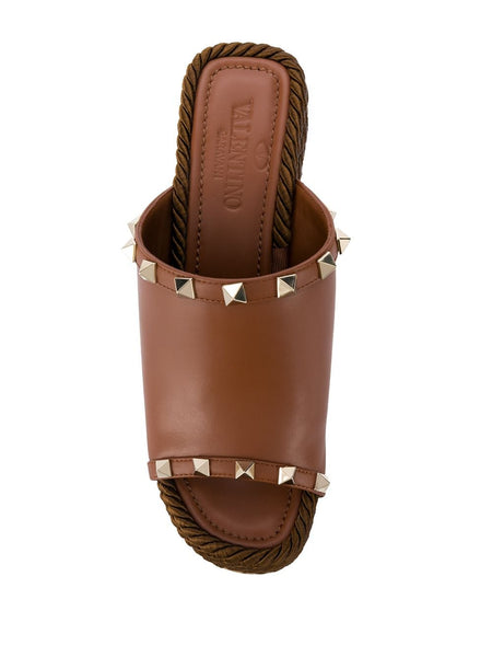 Rockstud Wedge Mules Top