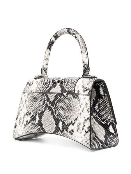 Small Snake-Print Hourglass Bag