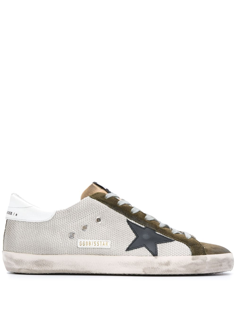Men's Suede Lace Up Trainers With Star Detail