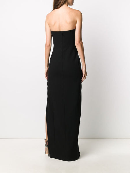 Bustier Strapless Side Slit Dress