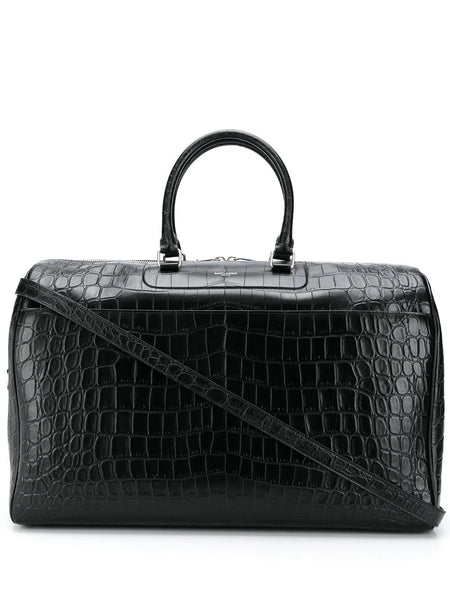 24 Hour Crocodile-Effect Duffle Bag