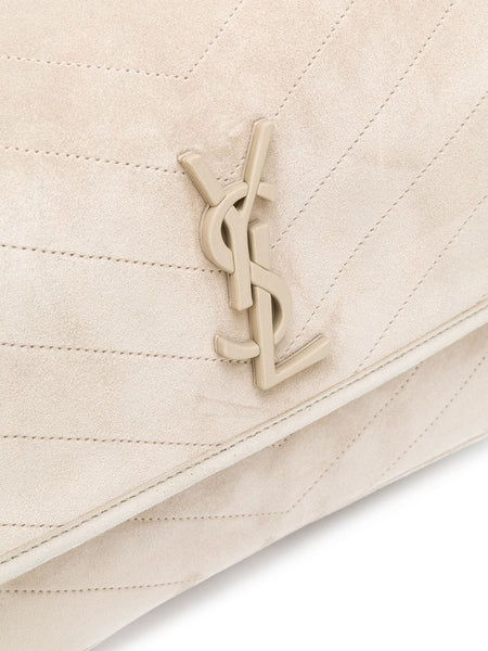 Monogram Suede Leather Shoulder Bag Logo