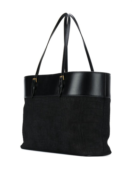 Large Leather Tote Bag Back