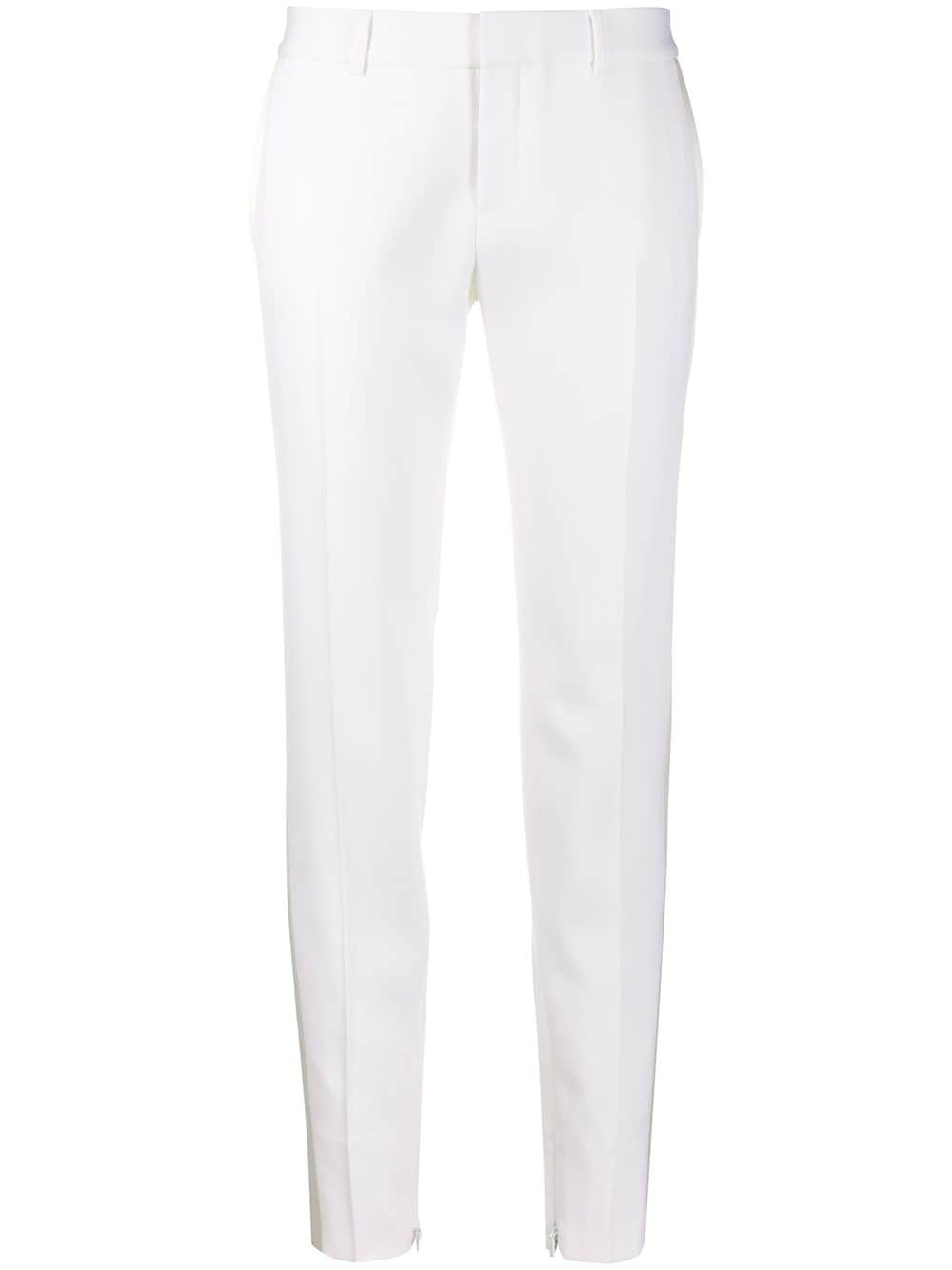 White Tapered Trousers