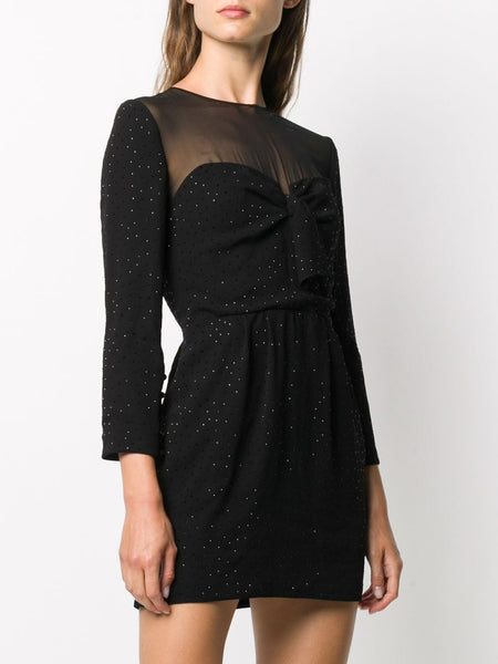 Short Crystal-Embellished Dress