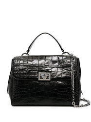 Medium ID Crocodile-Effect Tote Bag