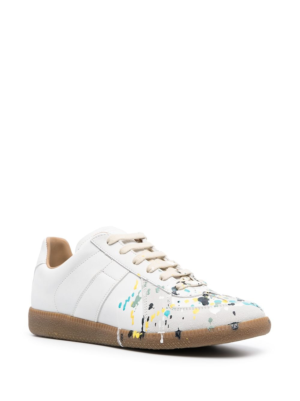 Paint-Splatter Low-Top Sneakers