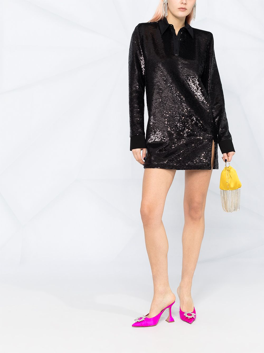 Sequin-Embellished Mini Dress
