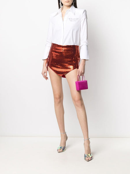 Sequinned Mini Skirt