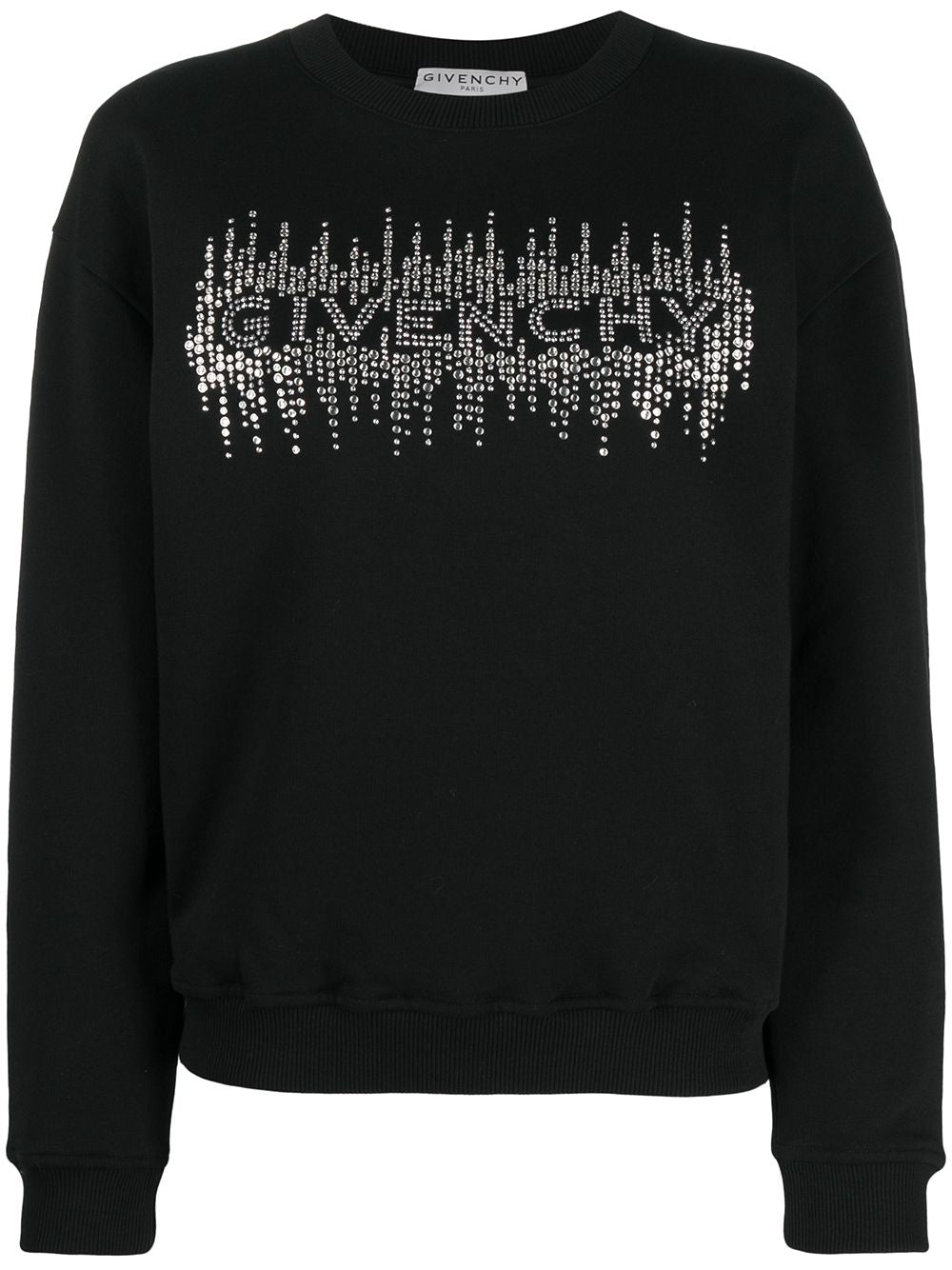 Crystal-Embellished Logo Sweatshirt