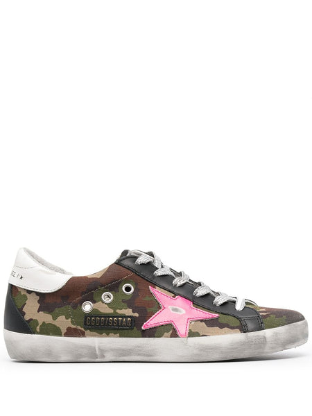 Camouflage-Print Super-Star Sneakers