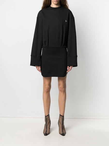 Logo Plaque Sweatshirt Dress
