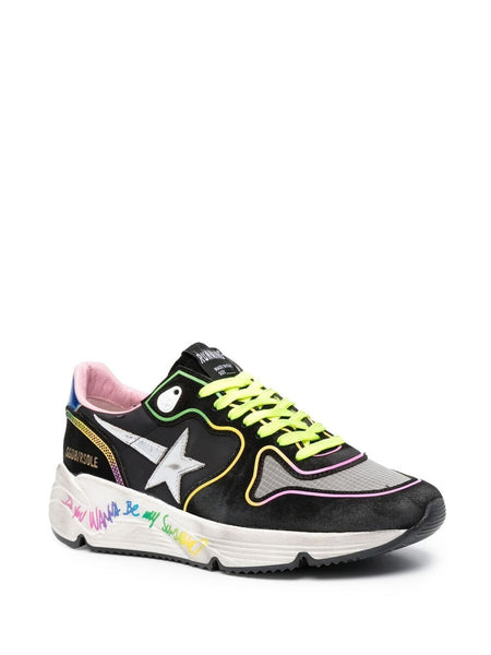 Logo-Patch Lace-Up Sneakers