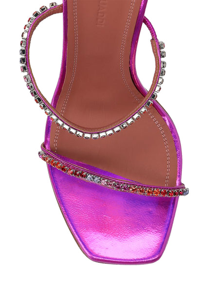 Gilda Hologram Leather Mule Sandals