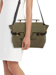 B-Buzz 30 Canvas Satchel On Shoulder