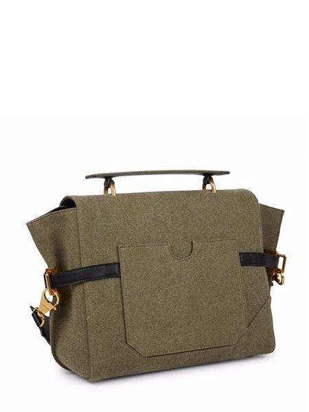 B-Buzz 30 Canvas Satchel Back