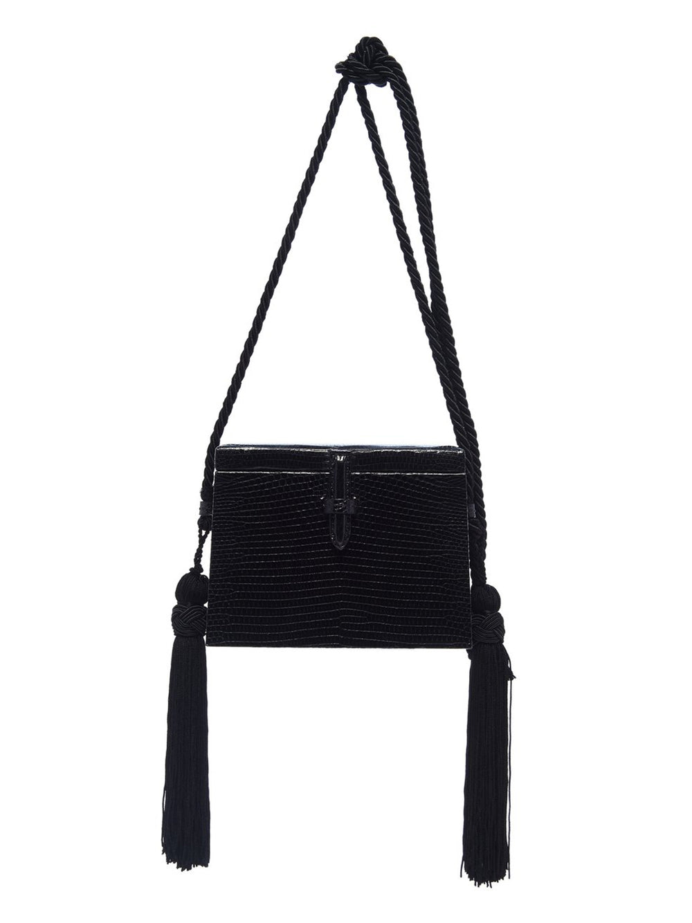 Mini Square Lizard Trunk Crossbody Bag Front