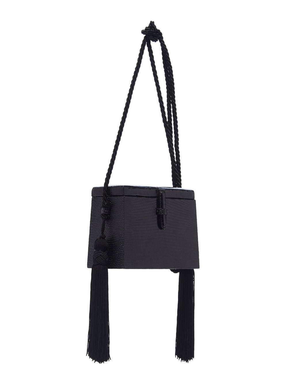 Mini Square Lizard Trunk Crossbody Bag Side