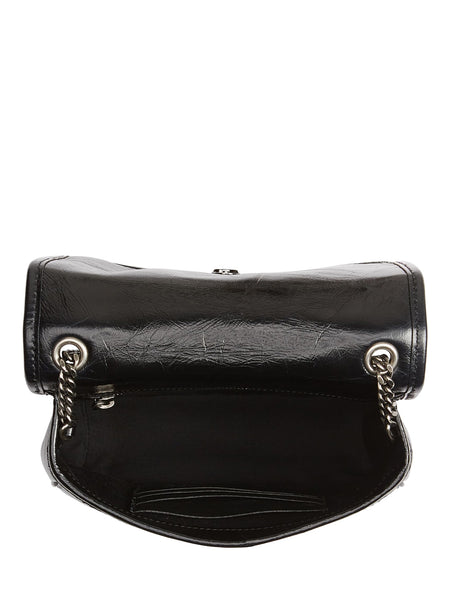 Niki Leather Crossbody Bag - open view