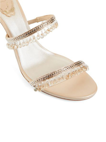 Beige Jewel Sandals Chandelier