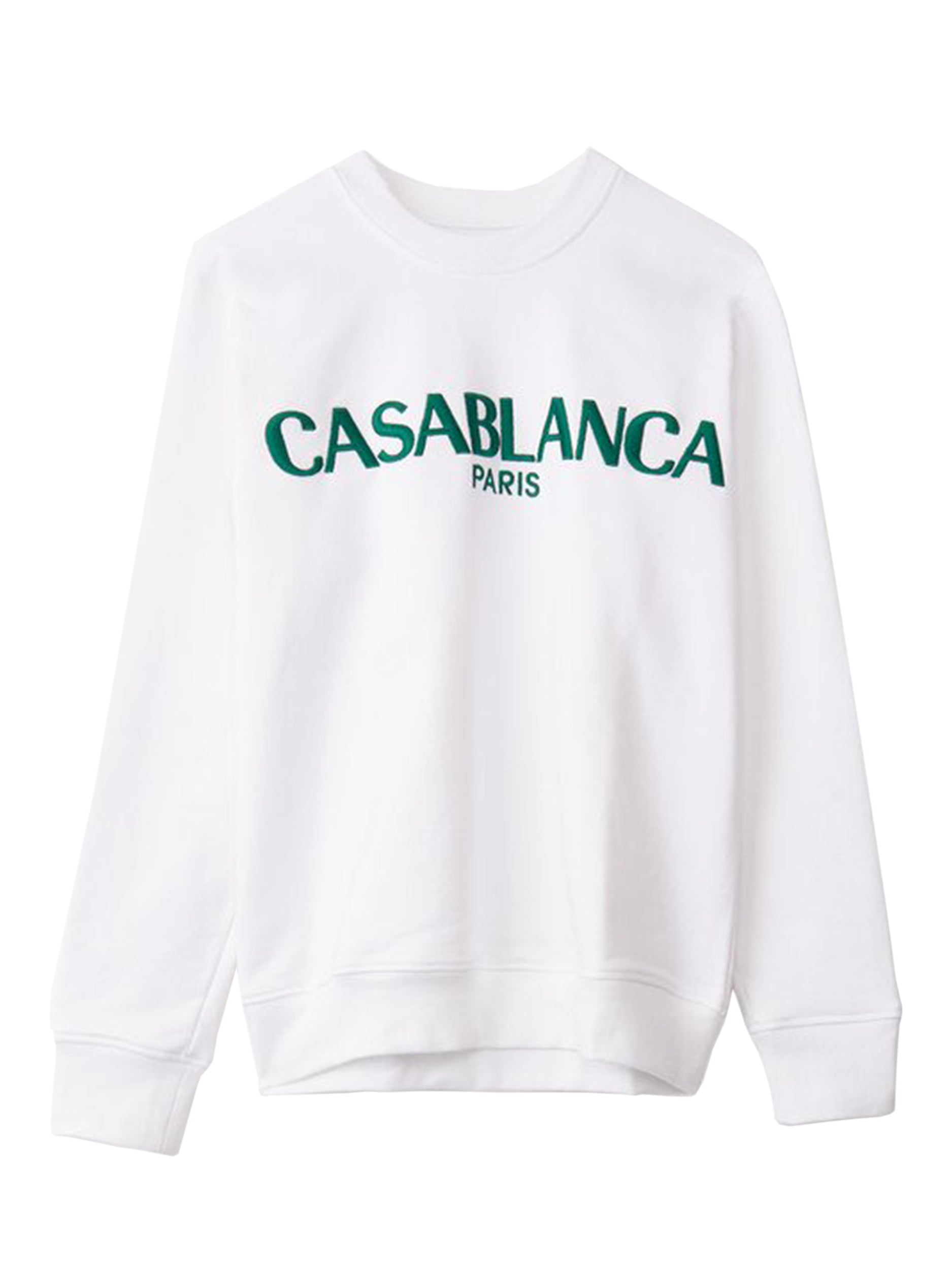 Casa Block-Logo Sweatshirt - White