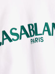 Casa Block-Logo Sweatshirt - White Detail