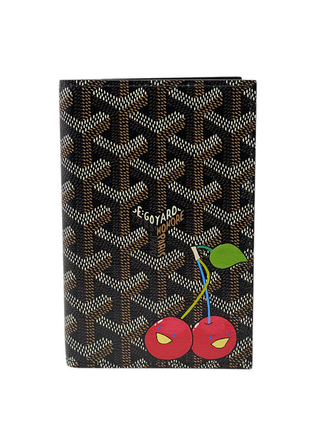 Custom Cherry Goyard Passport Holder