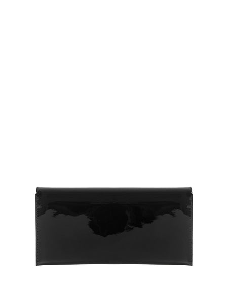 Smoking Clutch in Black Patent Leather Back