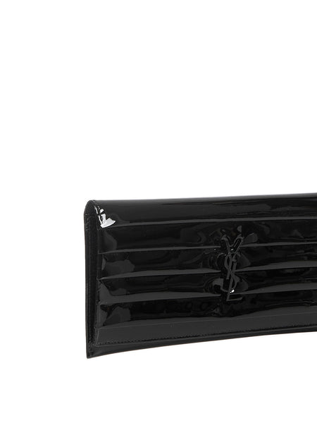 Smoking Clutch in Black Patent Leather Detail