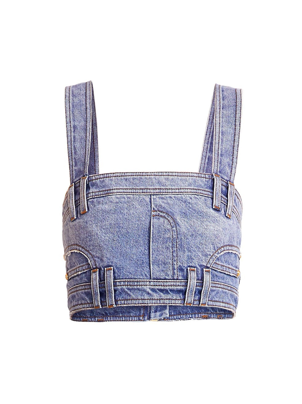 Cropped Denim Top