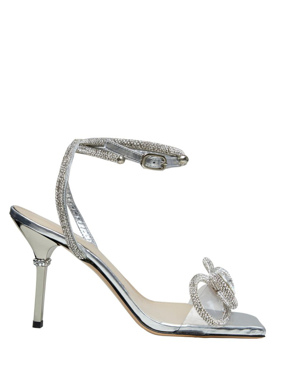 Crystal Bow-Embellished Sandals