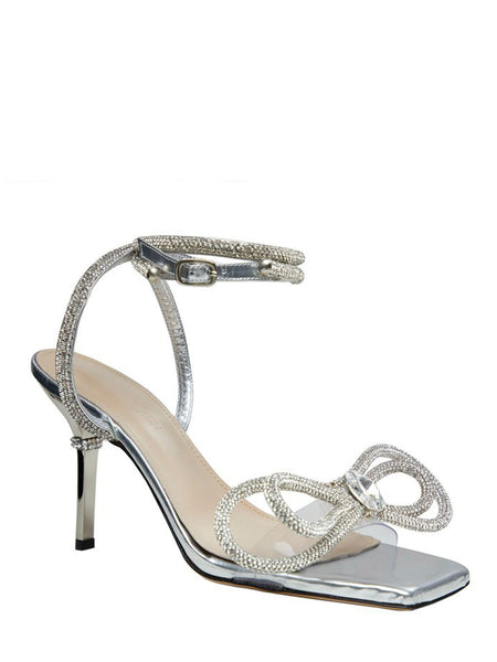 Crystal Bow-Embellished Sandals 3/4